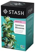 Stash Tea Jasmine Blossom Green Tea 20 Count Box of Tea Bags in Foil Pac... - $16.85