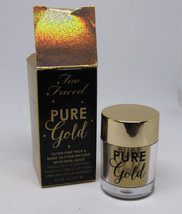 TOO FACED PURE GOLD Face & Body Glitter with Real Gold 0.07oz/2g NIB - $14.36