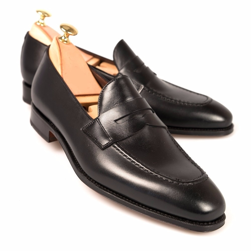 Handmade men black shoes  men leather shoes  men dress loafer shoes for men