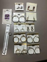 Lot of 10 Earring Sets 1 Anklet 1 Toe Ring 1 Guardian Angel Costume Jewelry - $40.09