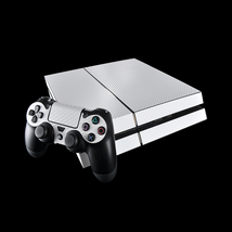 White carbon ps4 decal sticker for console & controllers skin - $15.00