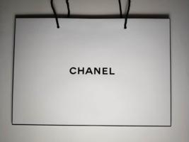 CHANEL White-Black Paper Bag. 15.70 x 10.78 x 4.48 inch. - $13.99