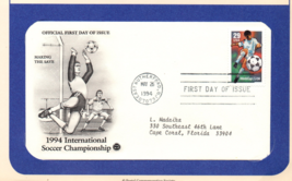 International Soccer Championship, 1st Day of Issue, 29 cent Stamp - $2.75