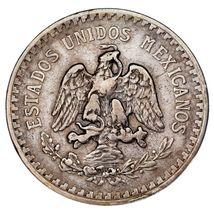 1918/7 Mexico Silber 1 Peso Overstrike VF Zustand image 4