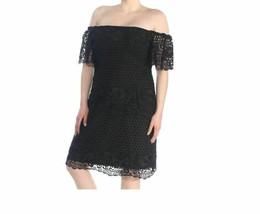 Lauren Ralph Lauren Women's Black Off The Shoulder Eyelet Short Dress Si... - $34.59