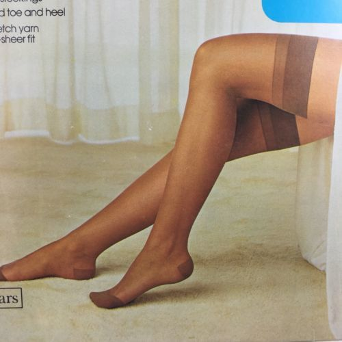 ecf984a5c Vintage Stockings Sears Cling-alon Brown Tealeaf Classic Size 8.5-11