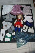 "Vintage 1960 14"" Vogue Ginny Little Girl Doll + 18 pcs Unique Handmade W... - $66.49"