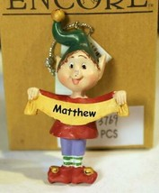Christmas Ornaments WHOLESALE- Russ BERRIE- #13769 'MATTHEW- (6) - New -W74 - $5.83