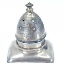 Vintage Silver Salt & Pepper Shaker Set Stamped 1030 image 6