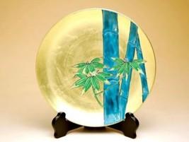 Arita porcelain Plate Kinrande Kinpaku Bamboo Kozan kiln traditional craft - $350.33