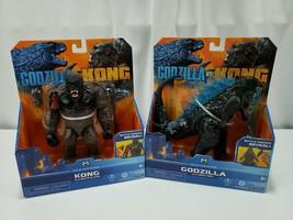 Godzilla Vs. Kong Heat Ray Godzilla & Battle Axe King Kong Figure Lot Pl... - $46.27