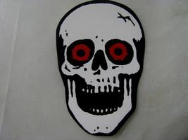 Halloween small sticker skeleton skull red eyes - £7.64 GBP
