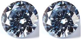 2 SAPPHIRE 6.00 mm. AQUA LIGHT BLUE 2.00 TCW DIAMOND-SPARKLING LOOSE HAR... - $8.99