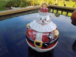 DEPARTMENT 56 COOKIE JAR SANTA CLAUS CHRISTMAS TREE ORNAMENT HAND DECORA... - $47.50
