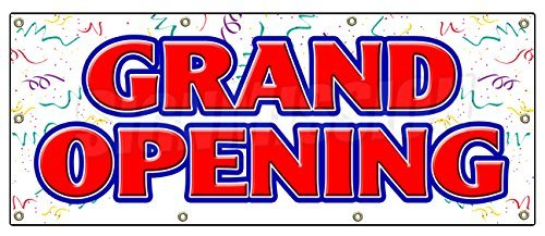 "36""x96"" Grand Opening Banner Sign New Store Sign Signs Open Soon"
