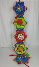 Manhattan Toy Whoozit Baby Crib Toy Visual Development Star Crinkle Mirror  - $29.69