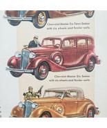 1934 Literary Digest Chevrolet Print Ad Master Six - $15.75