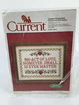 """Vtg Current Counted Cross Stitch Loving Thoughts Sampler Kit #7162-9 8""""X... - $9.49"""