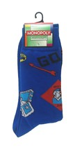 Monopoly Socks sz M/L Medium/Large (6-12) Blue - $17.99