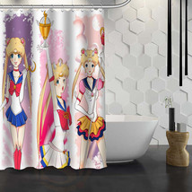 Hot Sale Custom Sailor Moon Shower Curtain Waterproof Fabric Bath Curtain for Ba - $43.49