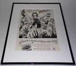 1962 Frito's Corn Chips / Football 11x14 Framed ORIGINAL Advertisement - $46.39