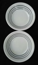 Caribe restaurant ware 2 gray stripe berry bowls set of 2 vintage  - $19.45