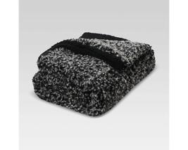 "Threshold Faux Fur Throw Blanket - Black 50"" X 60"" - $34.99"