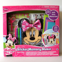 Disney Minnie Mouse Book Sticker Memory Maker Over 3 Years Only Gift 250 Pieces - $12.86