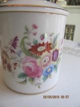 Small Coalport june time Mustard Jam Jelly pot w lid Floral - $23.76