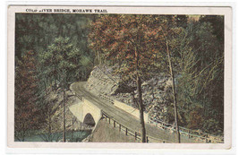 Cold River Bridge Mohawk Trail Highway Berkshires Massachusetts 1920s po... - $5.94