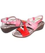 ✿WONDERS Spain Patent Papaya Antiqued-Pink Leather Wedges 10.5 M 41 NEW!... - $46.54