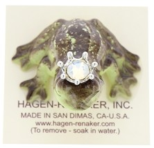 Hagen-Renaker Miniature Frog Prince Kissing Birthstone 10 October Opal image 5