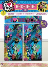 80s Backdrop Set 6ft/3pc, PARTY ROOM DECORATION/FANCY DRESS/PROPS - $8.23