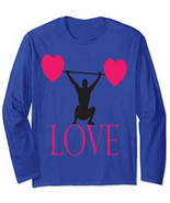 Love For Weight Training Unisex Long Sleeve T-Shirt  - $25.00