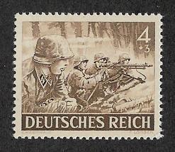 1943 WWII Machine Gunner Germany Postage Stamp Catalog Number B219 MNH