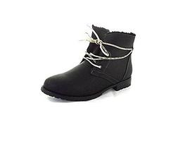 Sporto Jillian Fleece Lined Lace Up Ankle Boots, Black 8.5M - $38.81