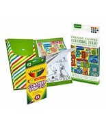 Crayola Creative Escapes 30 Pg. Coloring Book w/ 12 Colored Pencils Tabl... - $6.85