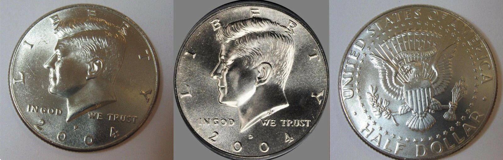 2004 P and D  BU Kennedy Half Dollar from US Mint Roll CP2432