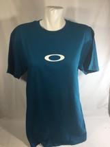 Oakley Men Teal Blue T-shirt Short Sleeve Classic Neck Stretch Regular Fit SizeM - $14.96