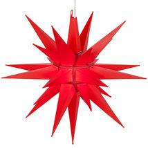 "Red LED Lighted Christmas Moravian Star Outdoor Decoration Display 14"" - ₨3,440.65 INR"