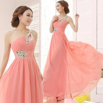 2018 New Simple Dress For Bridesmaids Elegant Brief Dress One Shoulder C... - $53.04