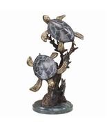 Sea Turtle Duet Brass Bronze Art Sculpture Statue by SPI Home 30236 - $187.00