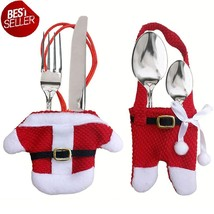 12pcs Santa Cutlery Holder Knife Fork Tableware Costume Christmas Spoon ... - $11.21