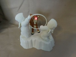 Snowbabies Dept 56 Guest Collection Rudolph Gets Ready Red Nose Blinks +... - $27.74