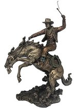 "13.5"" Cowboy Classic Rodeo Statue Western Figurine Country Figure American - $90.00"