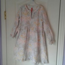 Hanna Andersson 100 Dreaming In Swedish Long Sleeve Girls cotton Dress Rare - $18.70