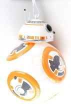 Disney Star Wars BB-8 BB8 Last Jedi Hallmark Blown Glass Christmas Xmas Ornament