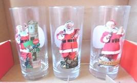 Coca Cola Gläser 3pc. Weihnachtsmann - $6.22
