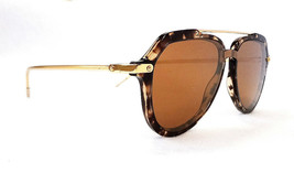 DOLCE & GABBANA Women's Sunglasses DG4330 31696H 145 Havana/Gold ITALY -... - $195.00