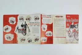 Vintage 1955 Harley-Davidson 165 Motorcycle Fold-Out Brochure & Specs - $74.79